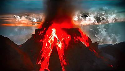 Digital Art - Eruption by Mario Carini
