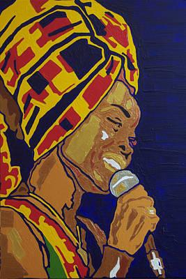 Painting - Erykah Badu by Rachel Natalie Rawlins