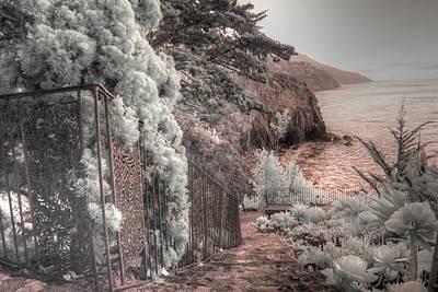 Heart Sutra Wall Art - Photograph - Esalen Institute Big Sur California by Jane Linders