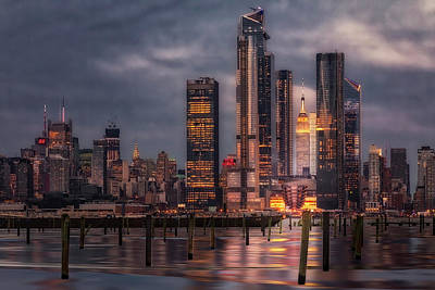 Photograph - Esb Nyc Hudson Yards Skyline by Susan Candelario