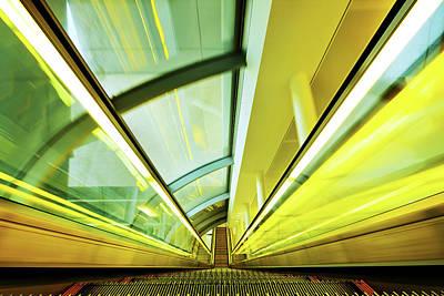 Photograph - Escalator Moving Down by Nikada
