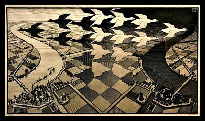 Surrealism Royalty-Free and Rights-Managed Images - Escher 116 by Rob Hans
