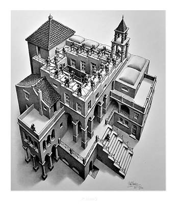 Surrealism Royalty-Free and Rights-Managed Images - Escher 129 by Rob Hans