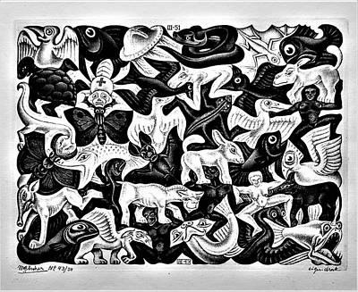 Jolly Old Saint Nick - Escher 63 by Rob Hans