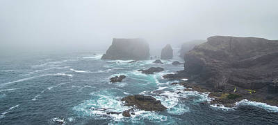 Photograph - Eshaness In The Mist, Scotland by Arterra Picture Library