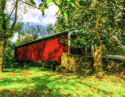 Photograph -  Eshelman's Mill Covered Bridge by Nick Zelinsky