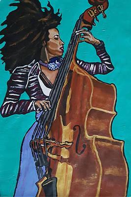 Painting - Esperanza Spalding by Rachel Natalie Rawlins