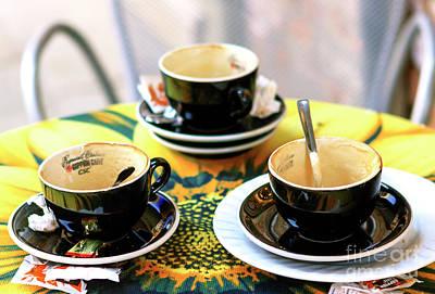Photograph - Espresso Cups In Venice by John Rizzuto