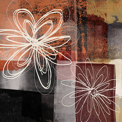Mixed Media - Espresso Flower 2- Art By Linda Woods by Linda Woods