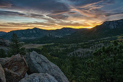 Photograph - Estes Valley Daybreak by Darlene Bushue