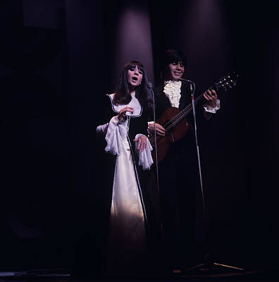 Esther And Abi Ofarim Perform On Stage Art Print