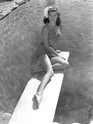 Esther Williams At The Beverly Hills Art Print