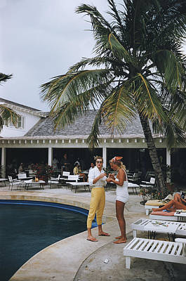 Photograph - Esther Williams By The Pool by Slim Aarons