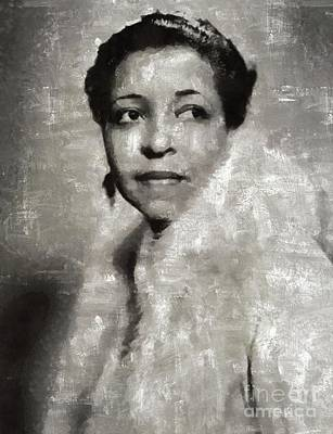 Music Paintings - Ethel Waters, Music Legend by Esoterica Art Agency
