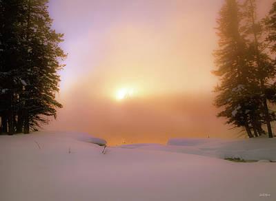Photograph - Ethereal Winter Sunrise by Leland D Howard