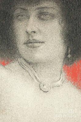 Pastel - Etude De Femme, Circa 1914  by Fernand Khnopff