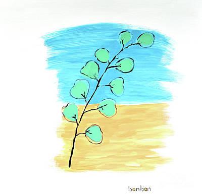 Painting - Eucalyptusacrylic  by Bonnie Owen