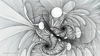 Digital Art - Euphoria Black And White by Doug Morgan