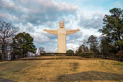 Old Masters - Eureka Springs Arkansas Christ of the Ozarks by Gregory Ballos