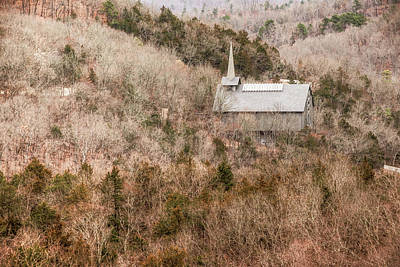 Photograph - Eureka Springs Thorncrown Worship Center Mountain Landscape by Gregory Ballos