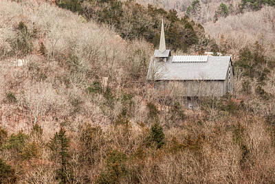 Photograph - Eureka Springs Thorncrown Worship Center Ozark Mountain Landscape by Gregory Ballos