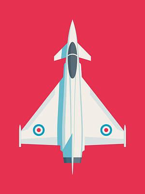 Military Aircraft Wall Art - Digital Art - Eurofighter Typhoon Jet Fighter Aircraft - Crimson by Ivan Krpan