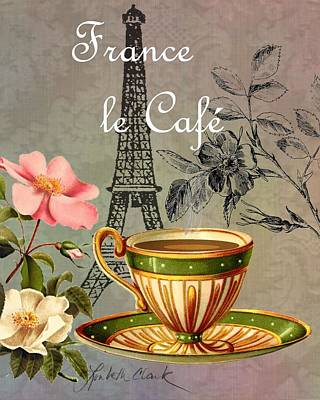 Digital Art - European Cafe France by Loribeth Clark