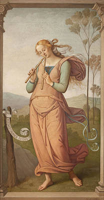 Painting - Euterpe, Muse Of Poetry by Egide Godfried Guffens