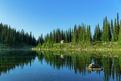 Photograph - Eva Lake Cabin by Dave Matchett