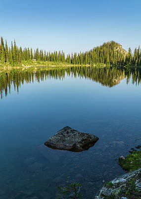 Photograph - Eva Lake Mirror by Dave Matchett