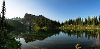 Photograph - Eva Lake Panorama by Dave Matchett