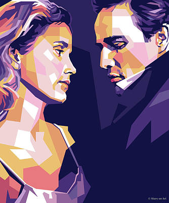 Classic Cocktails - Eva Marie Saint and Marlon Brando by Stars on Art