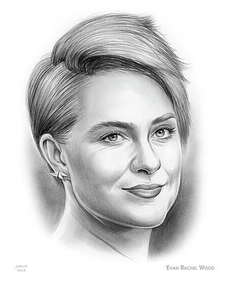 Drawing - Evan Rachel Wood by Greg Joens