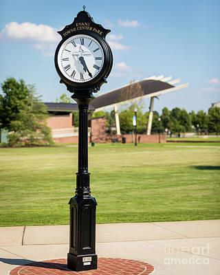 Evans Towne Center Park Clock - Columbia County Ga Art Print