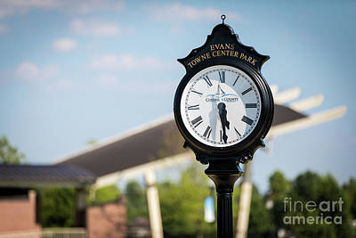 Photograph - Evans Towne Center Park Clock - Evans Ga by Sanjeev Singhal