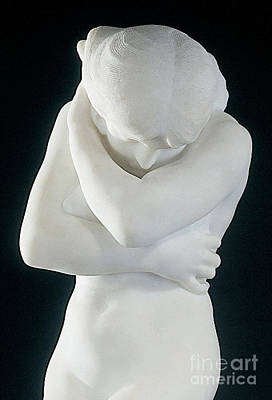Sculpture - Eve After Fishing  Modesty by Auguste Rodin