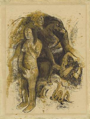 State Word Art - Eve The Nightmare 1899 1900 by Paul Gauguin