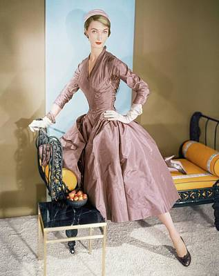 Photograph - Evelyn Tripp Wearing Ceil Chapman by Horst P. Horst