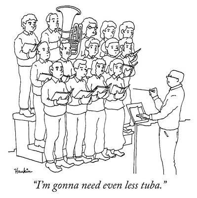 Drawing - Even Less Tuba by Charlie Hankin