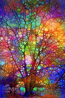 Digital Art - Even The Tree Is Glass On The Inside by Tara Turner