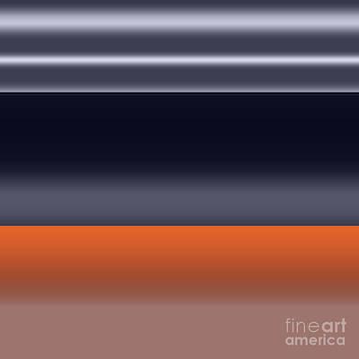 Digital Art - Evening, 2019, Gradient by Alex Caminker