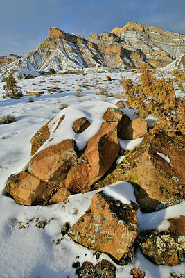 Photograph - Evening At Snow Covered Book Cliffs by Ray Mathis