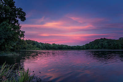 Photograph - Evening At Springfield Lake by Allin Sorenson