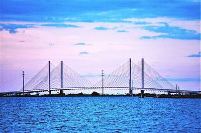 Photograph - Evening At The Indian River Inlet Bridge by Kim Bemis