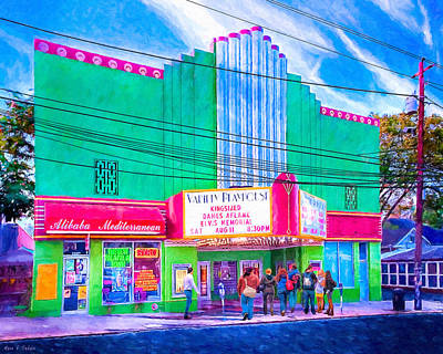Art Print featuring the photograph Evening At The Variety Playhouse - Atlanta by Mark E Tisdale