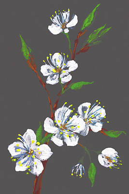 Painting - Evening Cherry Blossoms Impressionism by Irina Sztukowski
