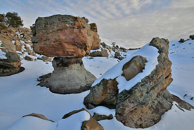 Photograph - Evening Clouds Above Balanced Rock by Ray Mathis