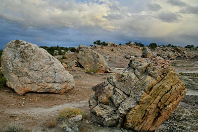 Photograph - Evening Clouds Over Bentonite Site Entrance by Ray Mathis