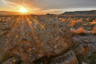Photograph - Evening Comes To The Book Cliff Desert by Ray Mathis