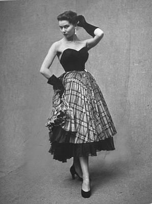 Photograph - Evening Dress By Designer Jean Desses by Gordon Parks